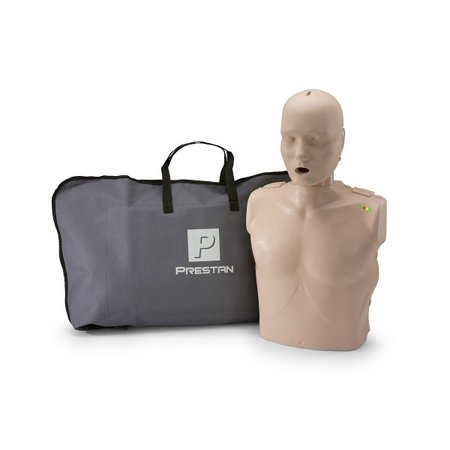 PRESTAN PP-AM-100M-MS Professional Adult CPR-AED Training Manikin with CPR Monitor, Medium Skin Economy Adult Sani Manikin