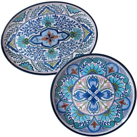 Talavera 2pc Platter Set - Talavera Ceramic Platter