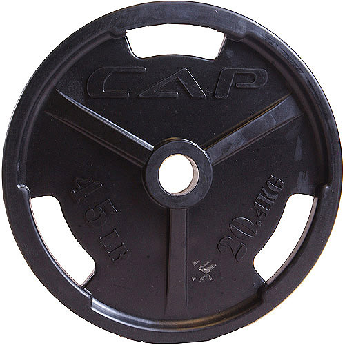 """CAP Barbell 2"""" Olympic Rubber Encased Commerical Grip Plate, Single"""