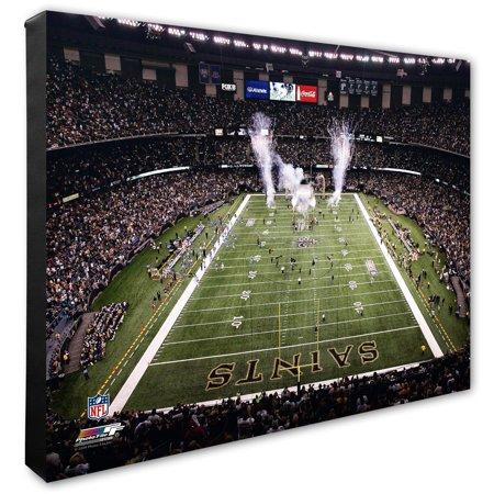 """New Orleans Saints 20"""" x 24"""" Stadium Canvas - No Size"""