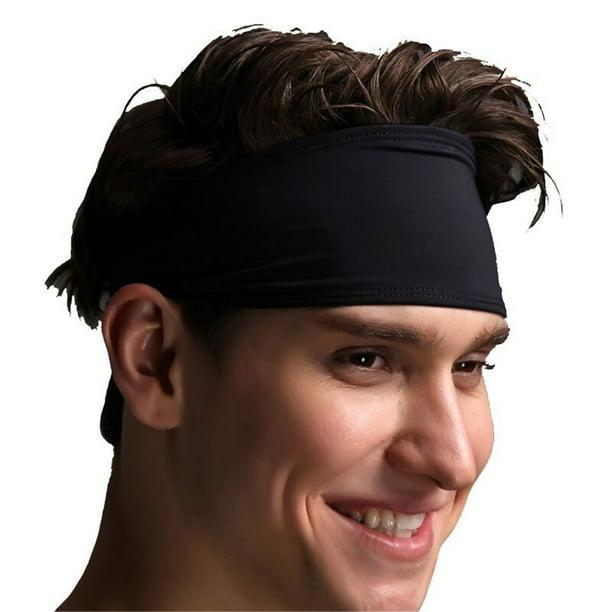 Hair Head Bands Sweatband Headband Stretch Mens Wrap Elastic Sports Men Thin Gym