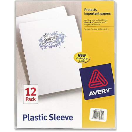 Plastic Sleeves Letter (Avery Clear Plastic Sleeves, Polypropylene, Letter,)