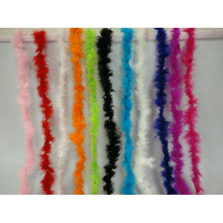 15g; 2 yards boa FuFu feather; party decoration; accessories; pack of 2 pieces; Pink (Feather Boas For Sale)