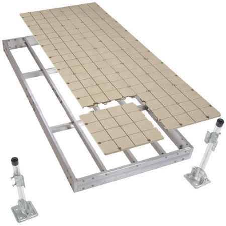 Loading Dock Kit (PlayStar Aluminum Stationary Dock Kit with Resin Top, 4' x)