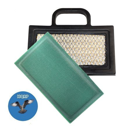 Image of HQRP Air Filter Kit (Cartridge w/ Pre-cleaner) for John Deere Sabre Scotts 1846HMS 2046HV S2046 S2546 S2548 Z425 L2048 (2002) L2548 (2002) Lawn Tractor + HQRP Coaster