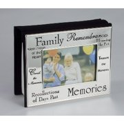 4x6 Silver-Plated Family Memories Sayings Horizontal Picture Photo Album Book