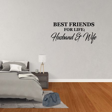 Wall Decal Quote Best Friends For Life Husband And Wife Art Words Lettering (Best Friends Wall)