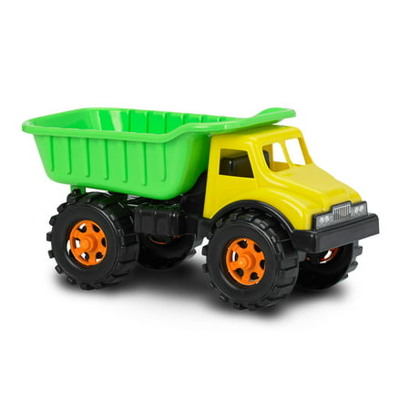 American Plastic Toys 07900 Toddler Kid 16 Inch Construction Dump Truck, Green](Plastic Toy)