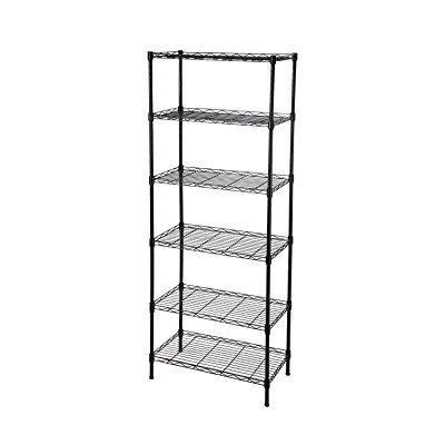 GEYUEYA Home 6 Tier Height Adjustable Metal Storage Racks ...