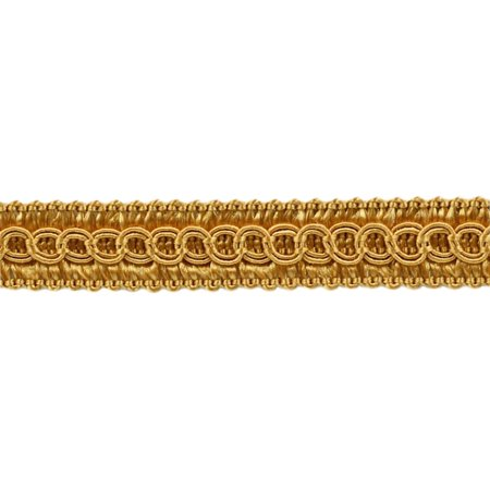 """1/2"""" Basic Trim Decorative Gimp Braid, Style# 0050SG Color: GOLD - C4,  Sold By the Yard"""