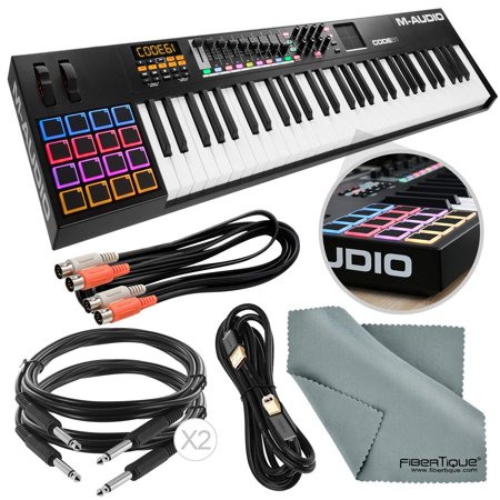 m audio code 61 61 key usb midi keyboard controller with x y touchpad black assorted cables. Black Bedroom Furniture Sets. Home Design Ideas