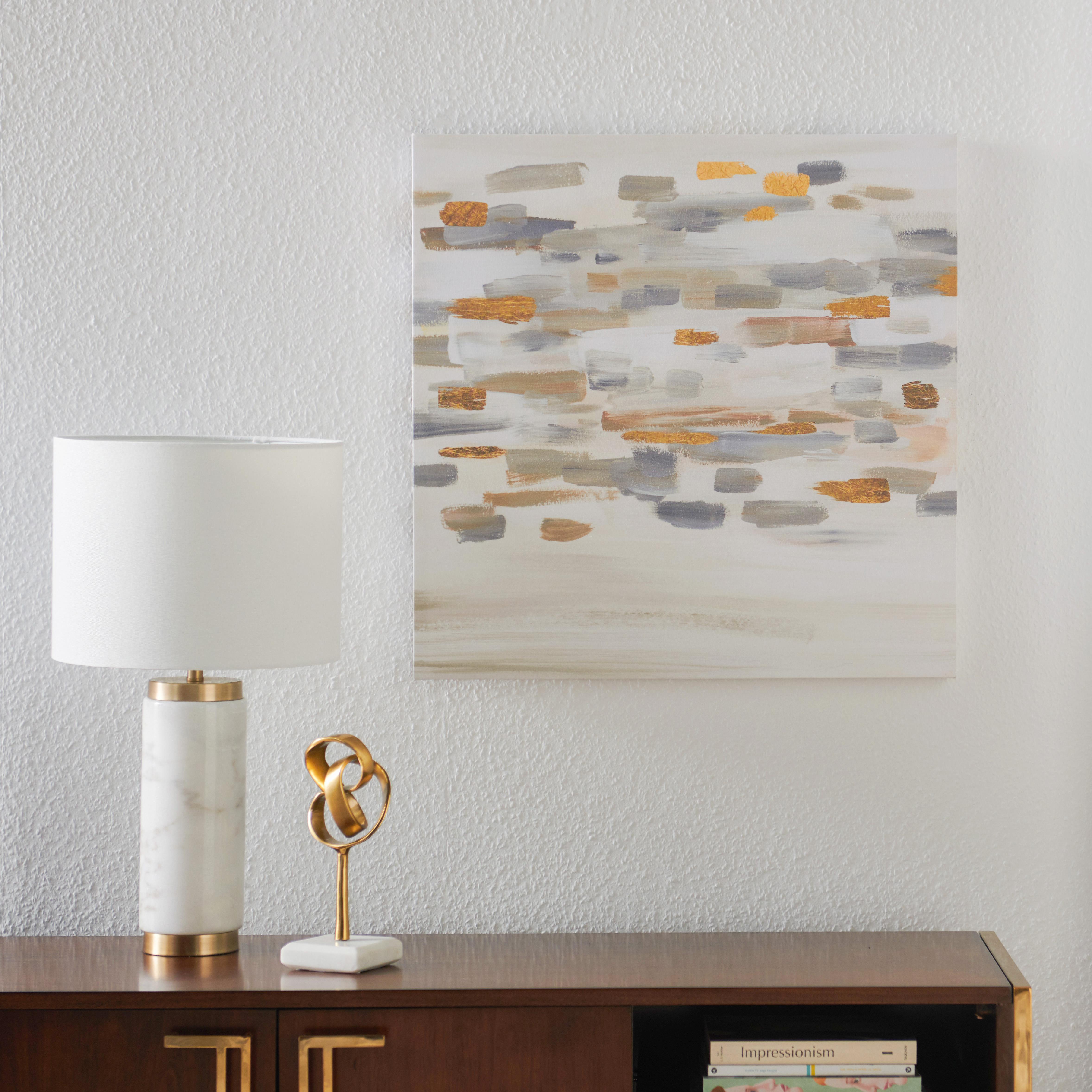 MoDRN Glam Gold Brush Strokes Wall Art