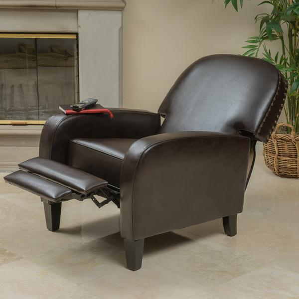 Vargas Brown Bonded Leather Recliner