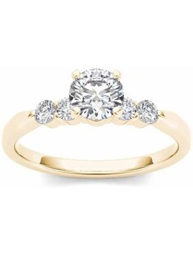 1/2 Carat TW Diamond Classic 14k Yellow Gold Engagement Ring