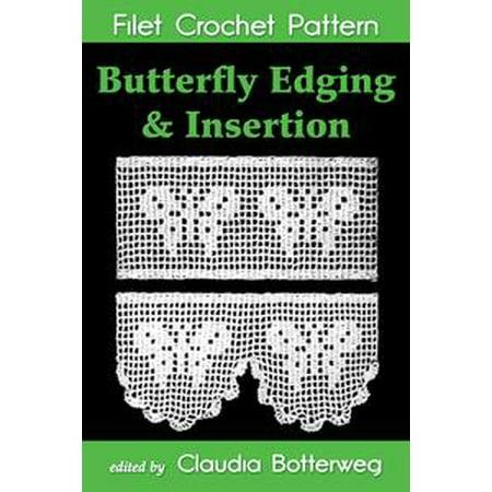 - Butterfly Edging & Insertion Filet Crochet Pattern - eBook