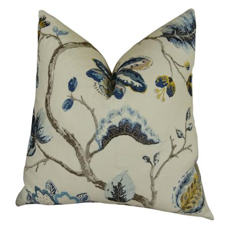 """Plutus Bloom City Handmade Throw Pillow, (Double sided 18"""" x 18"""") - image 2 of 2"""