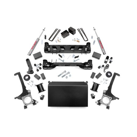 Bronco 4wd Front Lift - Rough Country - 75220 - 6-inch Suspension Lift Kit w/ Premium N2.0 Shocks for Toyota: 16-17 Tundra 4WD