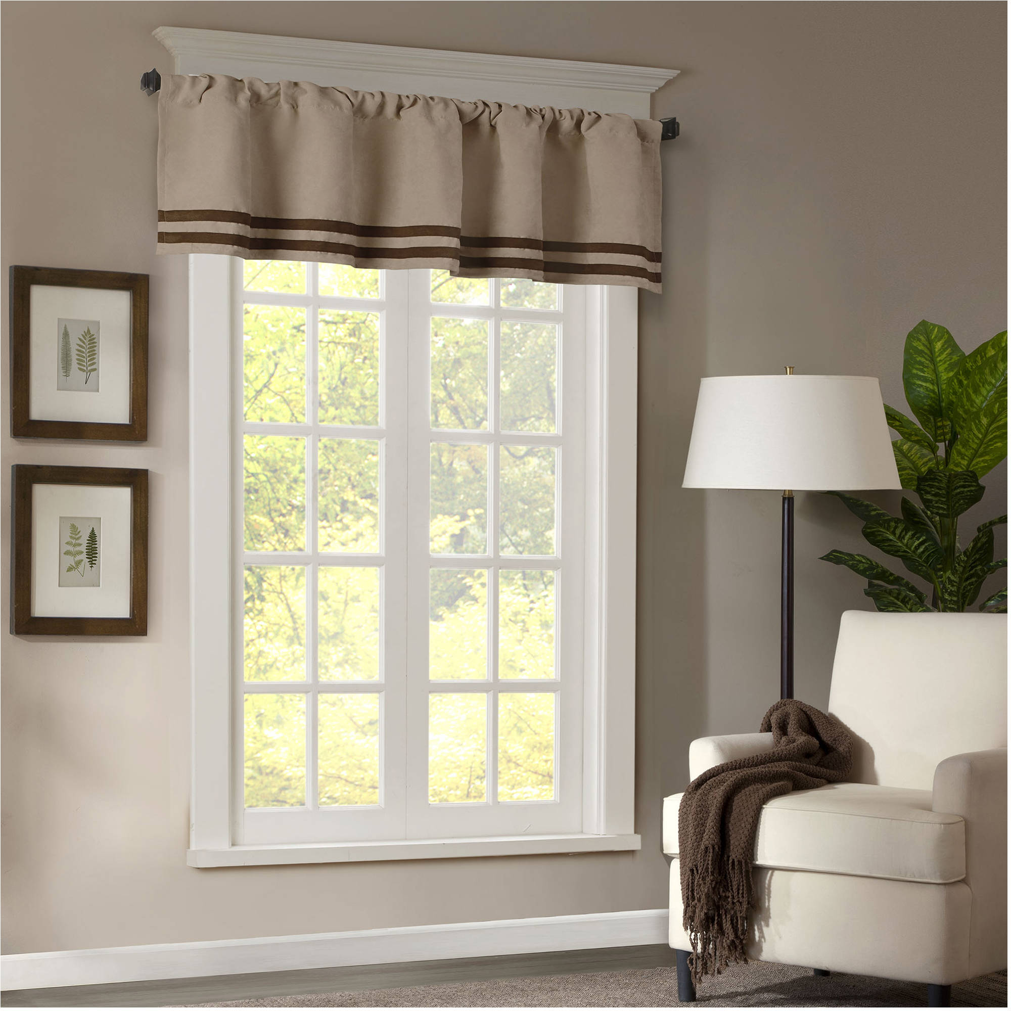 Home Essence Connell Microsuede Striped Window Valance