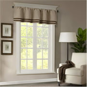 Home Essence Connell Microsuede Striped Window Valance Available In Multiple Colors