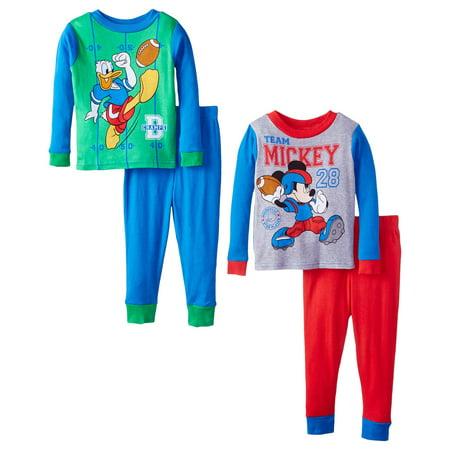 Disney Clothes For Boys (Disney Little Boys' Champions Four-Piece Pajama Set, Blue, Size:)