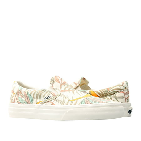 Vans Classic Slip On California Floral Marshmallow Low Top Sneakers VN0A38F7Q8I (Vans Cream Shoes)