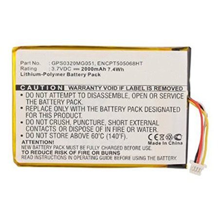 Replacement 2000mAh GPS0320MG051, ENCPT505068HT Battery for Skygolf SkyCaddie SGXw, SkyCaddie SGX_W, SkyCaddie SGX GPS