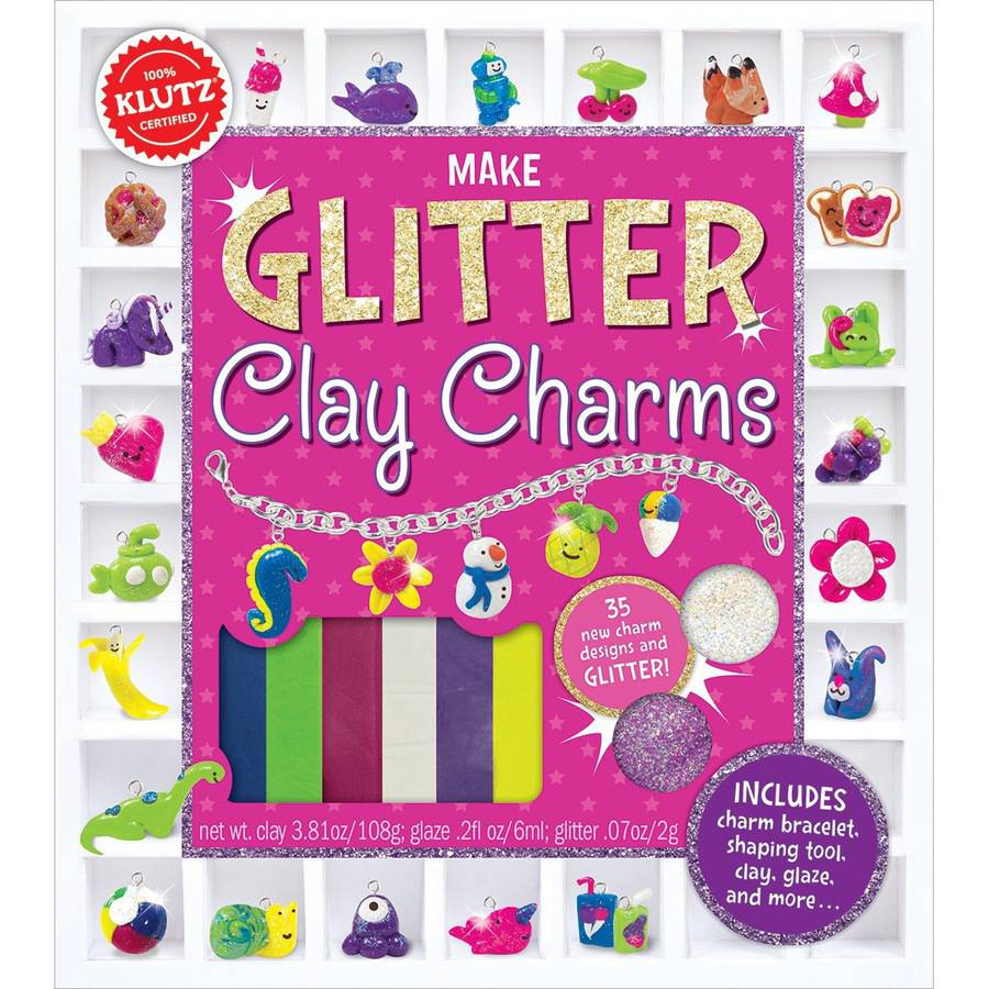 Glitter Clay Charms Book Kit