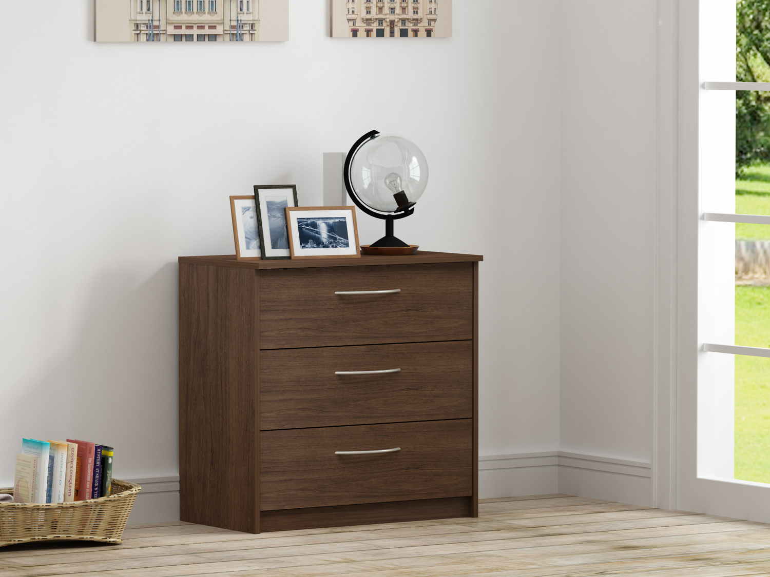 Click here to buy Homestar Finch 3-Drawer Dresser, Multiple Finishes by HOMESTAR NORTH AMERICA LLC.