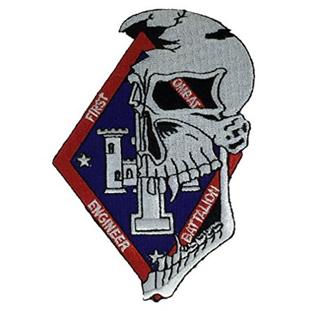 Marine Corps Combat Engineer - MARINE CORPS 1ST COMBAT ENGINEER BATTALION Patch - Vivid Colors - Veteran Owned Business.