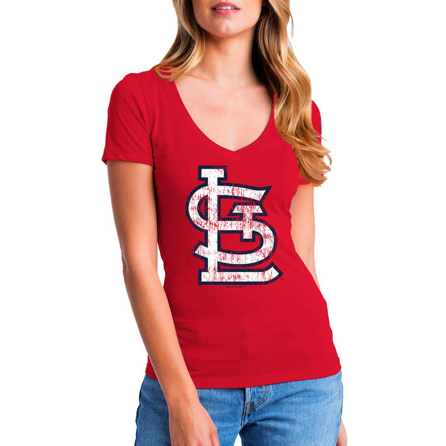 MLB St. Louis Cardinals Women's Short Sleeve Team Color Graphic Tee