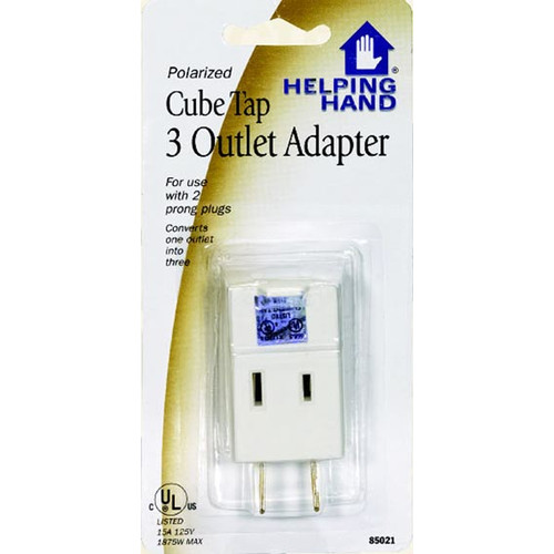 Click here to buy Helping Hand 85021 Cube Triple Tap Outlet Adapter by Helping Hand.