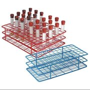 HEATHROW SCIENTIFIC HS120759 Test Tube Rack, Epoxy-Coated Steel,Red