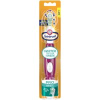 Arm & Hammer Spinbrush Pro White Battery Toothbrush, Soft, 1 Count