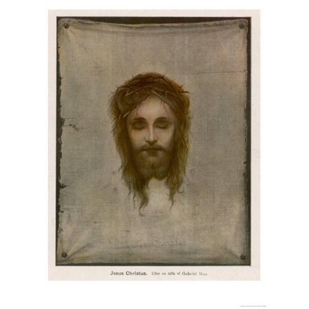 Jesus of Nazareth Wearing the Crown of Thorns Placed on His Head by the Roman Soldiers Print Wall Art - Roman Head Wear