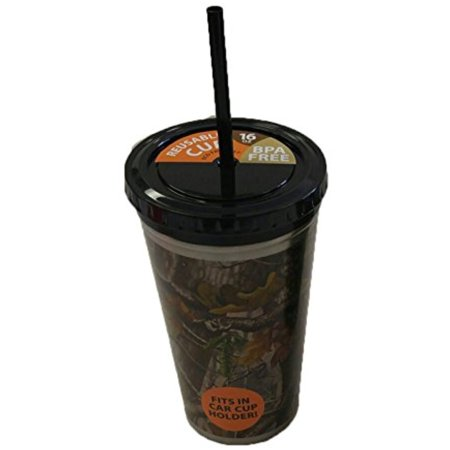 Camo Life Eco Friendly Reusable BPA Free 16 oz Travel Coffee Cup with Lid and Straw](Camo Cup)