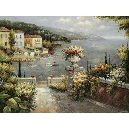 Marina Vista II Stretched Canvas - Peter Bell (11 x 14)
