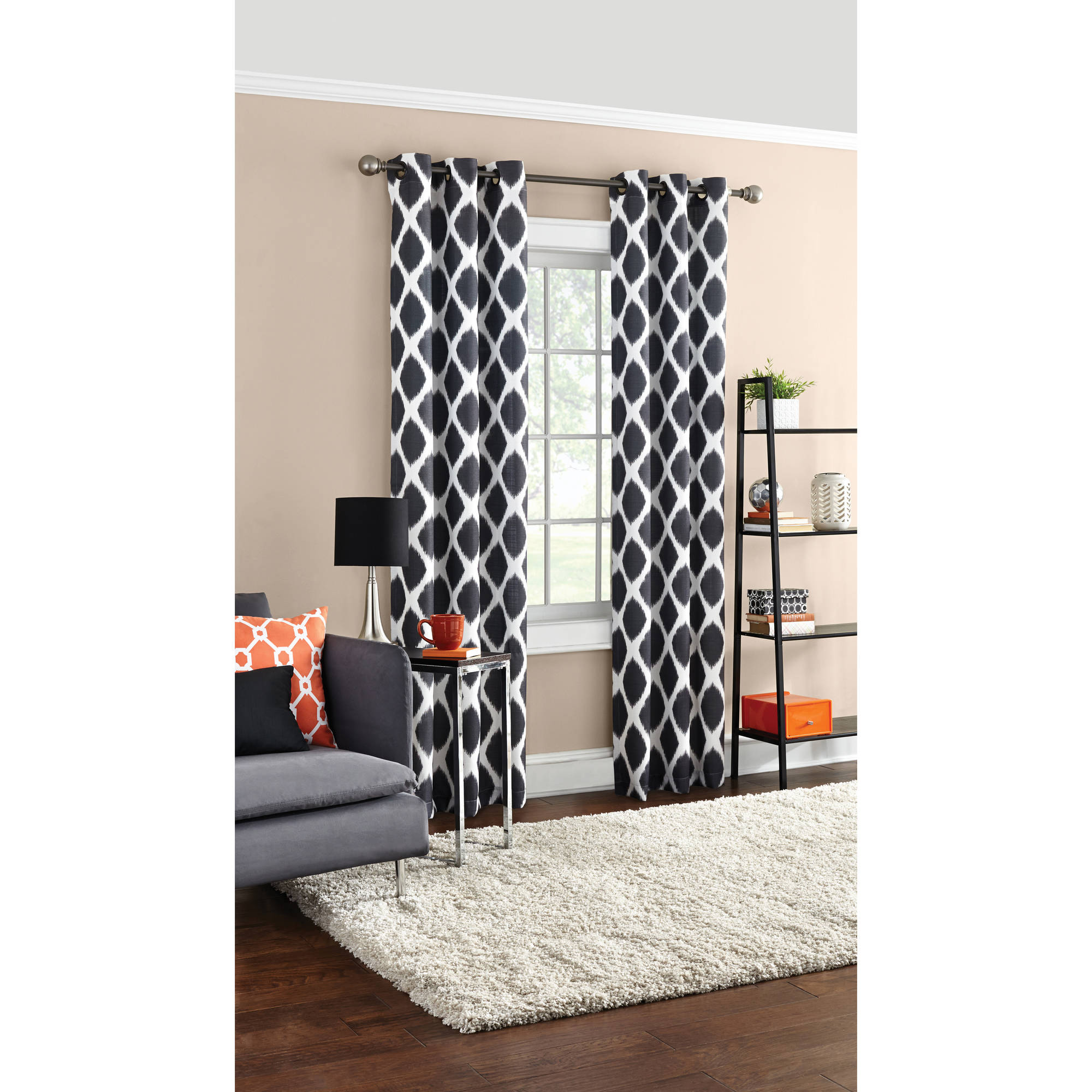 New Mainstays Textured Grommet Curtain Panel - Walmart.com TU87