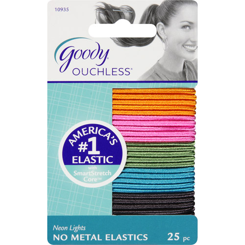Goody;ouchless;25ct Thn Neon Elastc