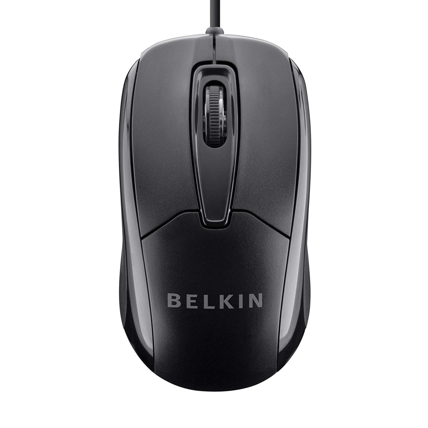 Belkin 3-Button Wired USB Optical Ergonomic Mouse with 5-Foot Cord