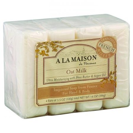 - A La Maison de Provence Bar Soap for Hand & Body, Oat Milk, 3.5 Oz, 4 Ct