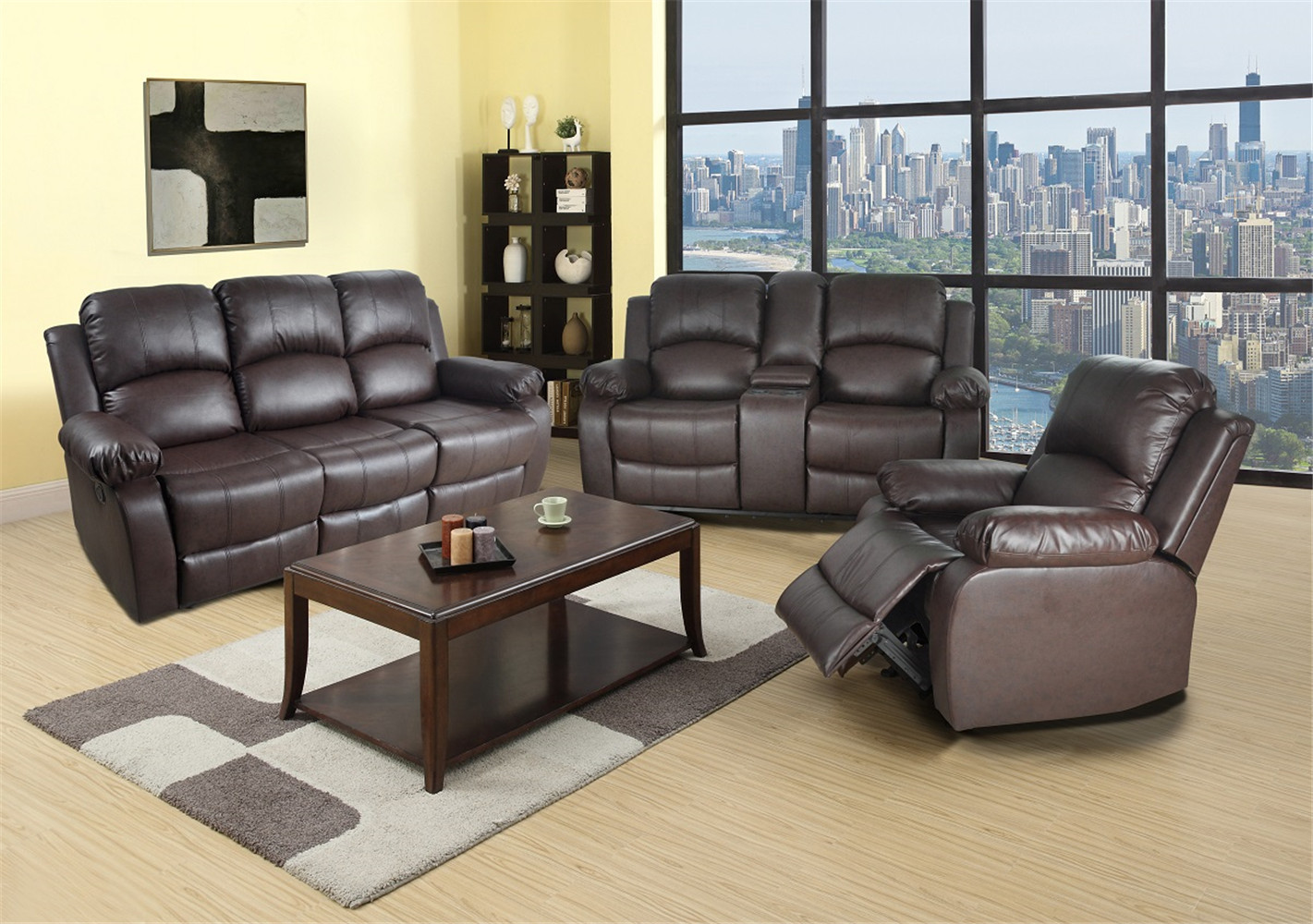Picture of: Reclining Sofa Loveseat Chair Set Living Room Set Walmart Com Walmart Com