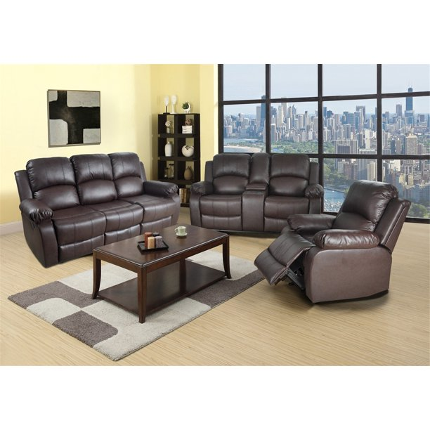 Reclining Sofa Loveseat Chair Set Living Room SET