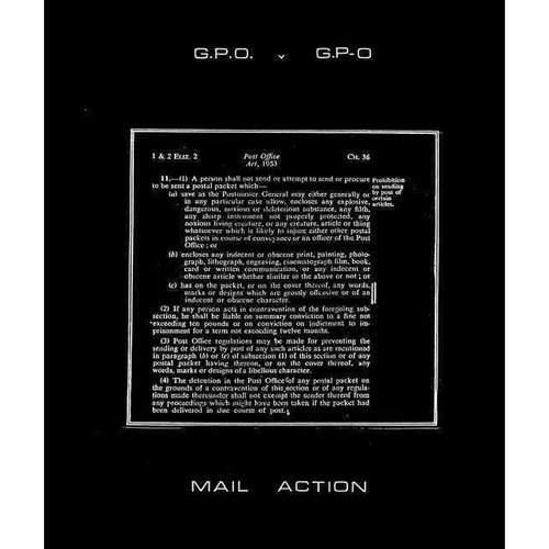 G.P.O versus G.P-O: A Chronicle of Mail Art on Trial Compiled by Genesis P-Oridge and COUM