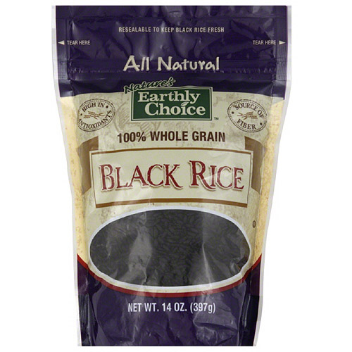 Nature's Earthly Choice Black Rice, 14 oz, (Pack of 6)
