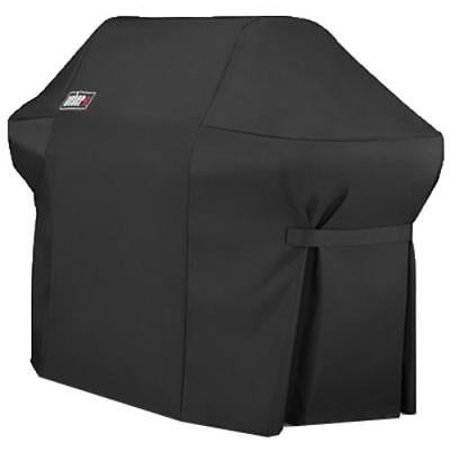 Summit 400 Series - Weber Summit 400 Series Black Grill Cover 100% Flexible Polyester Fabric