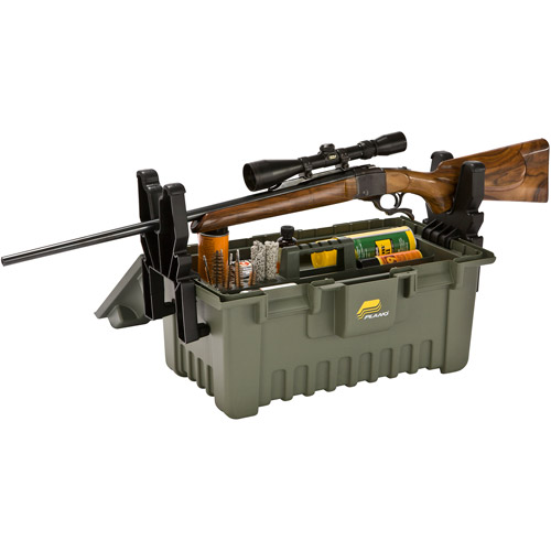 Plano Extra Large Shooter's Case with Gun Rest, Green