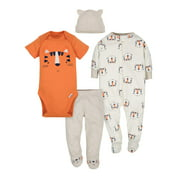 Gerber Baby Boy Outfit Take Me Home Shower Gift Set, 4-Piece