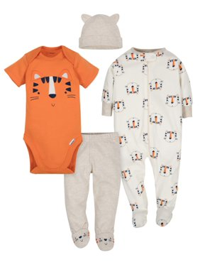90dc4e793ac4 Product Image Gerber Take Me Home Outfit Baby Shower Gift Set, 4pc (Baby  Boys)