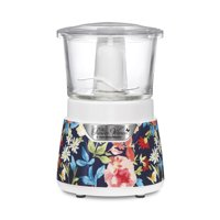 The Pioneer Woman 3 Cup Stack & Press Glass Bowl Chopper (Fiona Floral)