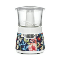 The Pioneer Woman Fiona Floral Stack & Press Glass Bowl Food Chopper, 3 Cup Capacity
